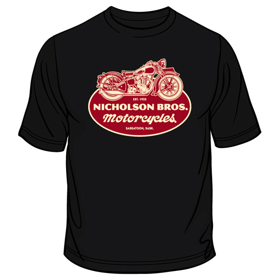 Nicholson Bros. Motorcycles T-shirt – Black